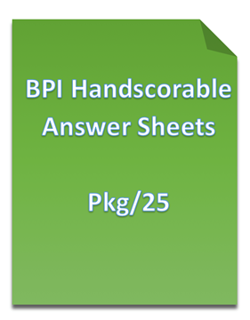 Picture of Basic Personality Inventory (BPI) Hand Scorable Answer Sheets