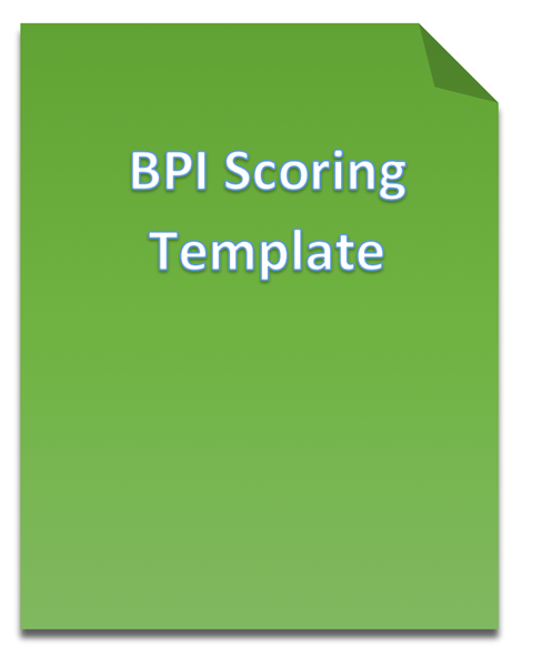 Picture of Basic Personality Inventory (BPI) Scoring Template