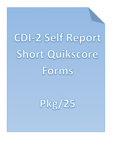Picture of CDI-2 Self Report Short Quikscore Forms Pkg/25