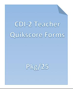Picture of CDI-2 TEACHER QUIKSCORE FORMS PKG/25