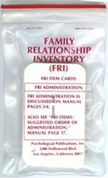 Picture of Family Relationship Inventory (FRI) Item Cards pkg./50
